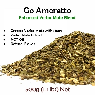 New!! Go Amaretto Yerba Mate Blend 500g (1.1 lbs)