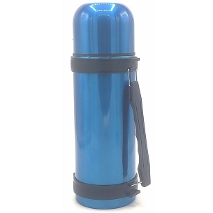 Large Blue Stainless Steel Vacuum Thermos 40 oz (1.3 liters)