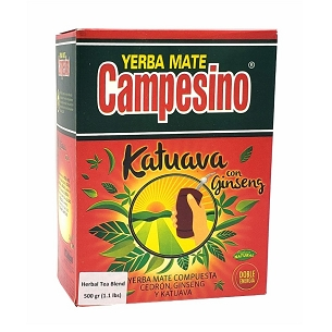 Campesino Katuava and Ginseng Yerba Mate 500 g (1.1 lbs) (Crushed)
