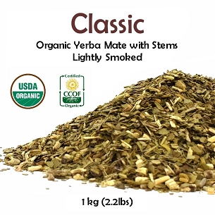 Classic Organic Yerba Mate (with stems) 1 kg (2.2 lbs)