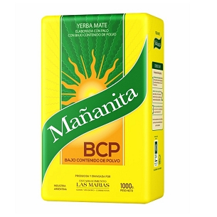 Mananita BCP Yerba Mate with Stems 1 kg (2.2 lbs)