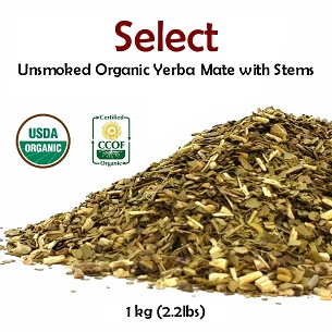 Select Organic Unsmoked  Mate (with stems) 500 g (1.1 lbs)