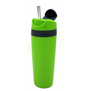 Snap Seal Travel Mate with Bombilla 16 oz
