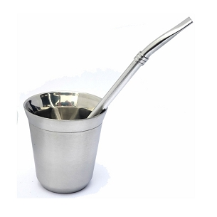 Cone Style Stainless Steel Mate with Bombilla 6 oz