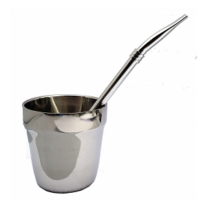 Double Wall Stainless Steel Mate with Bombilla 6 oz