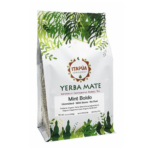 Organic Yerba Mate with Mint and Boldo 12 oz (340 g)