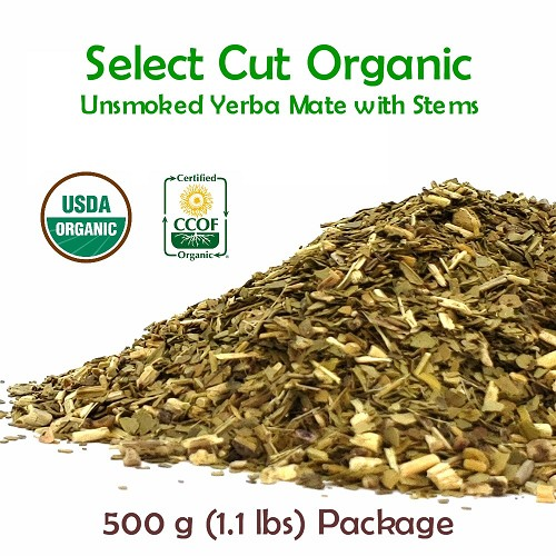 Select Unsmoked Organic Yerba Mate (with stems) 500 g (1.1 lbs)